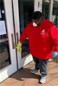 cleaning Stanton front door