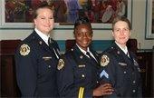 Recruitment, three women officers
