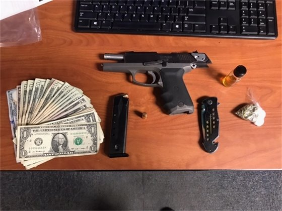 Property recovered from Alkein Matthews
