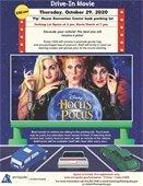 Halloween Drive-In Movie Event flyer Hocus Pocus