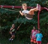 playground swing girl