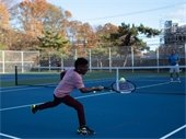 three tennis courts are open for play