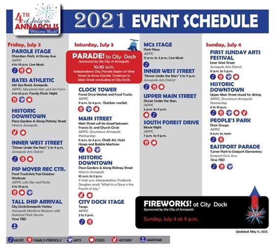 2021 Independence Day Weekend Events