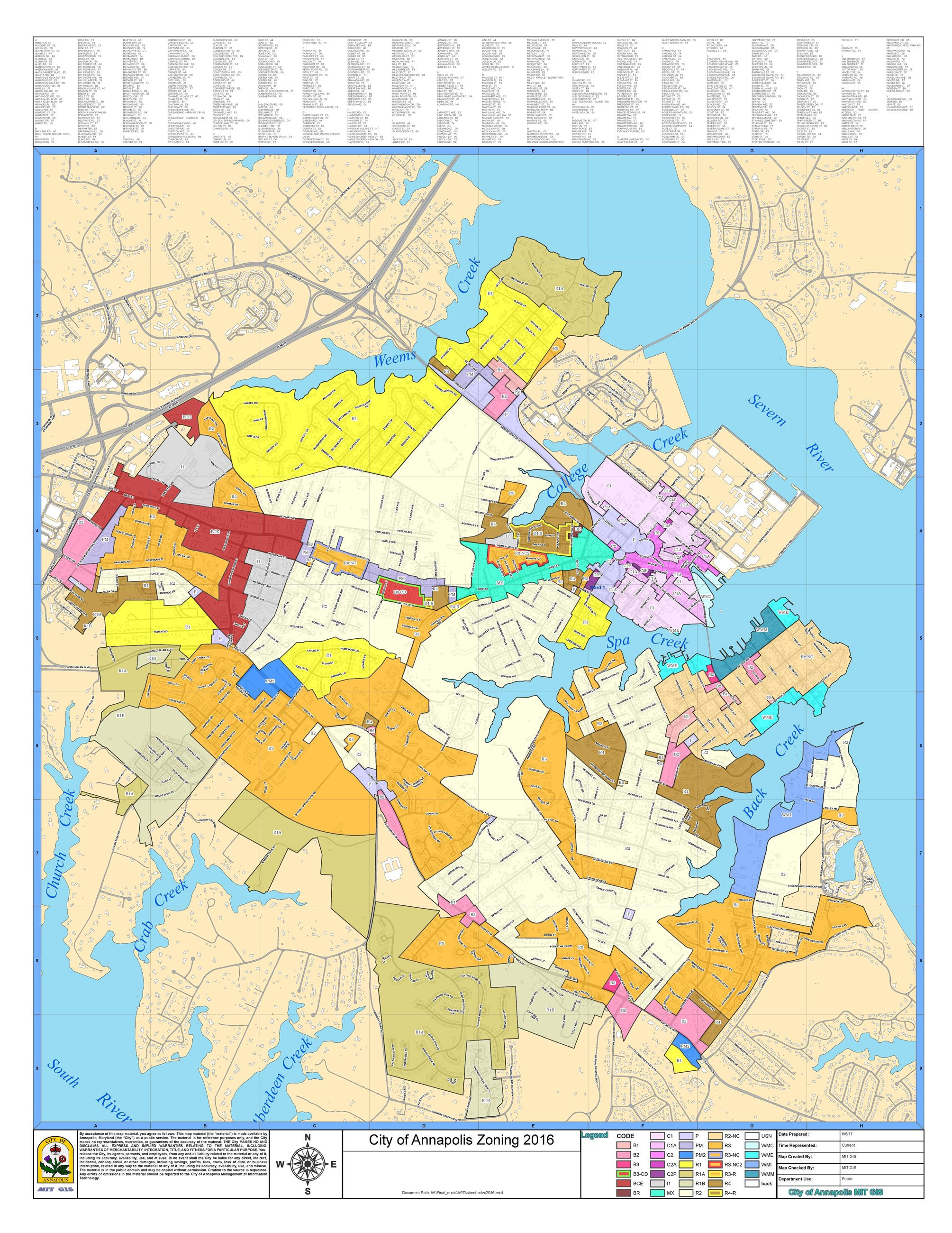 Zoning Maps | Annapolis, MD on