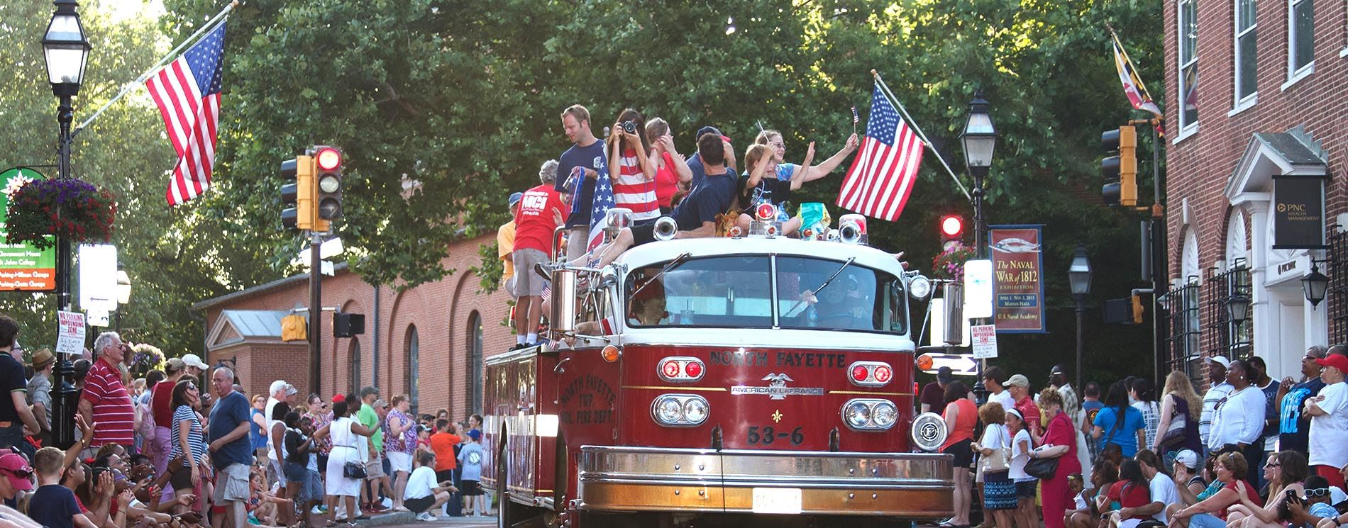 July 4 parade fire truck