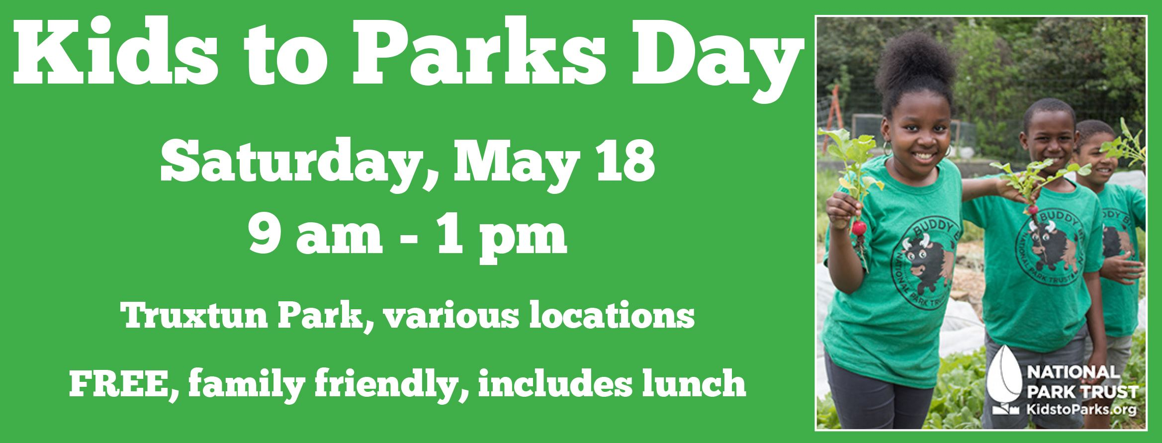 Kids to Parks Day 2019 save the date