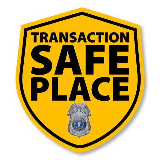 The logo for Transaction Safe Place for the Annapolis Police Department.