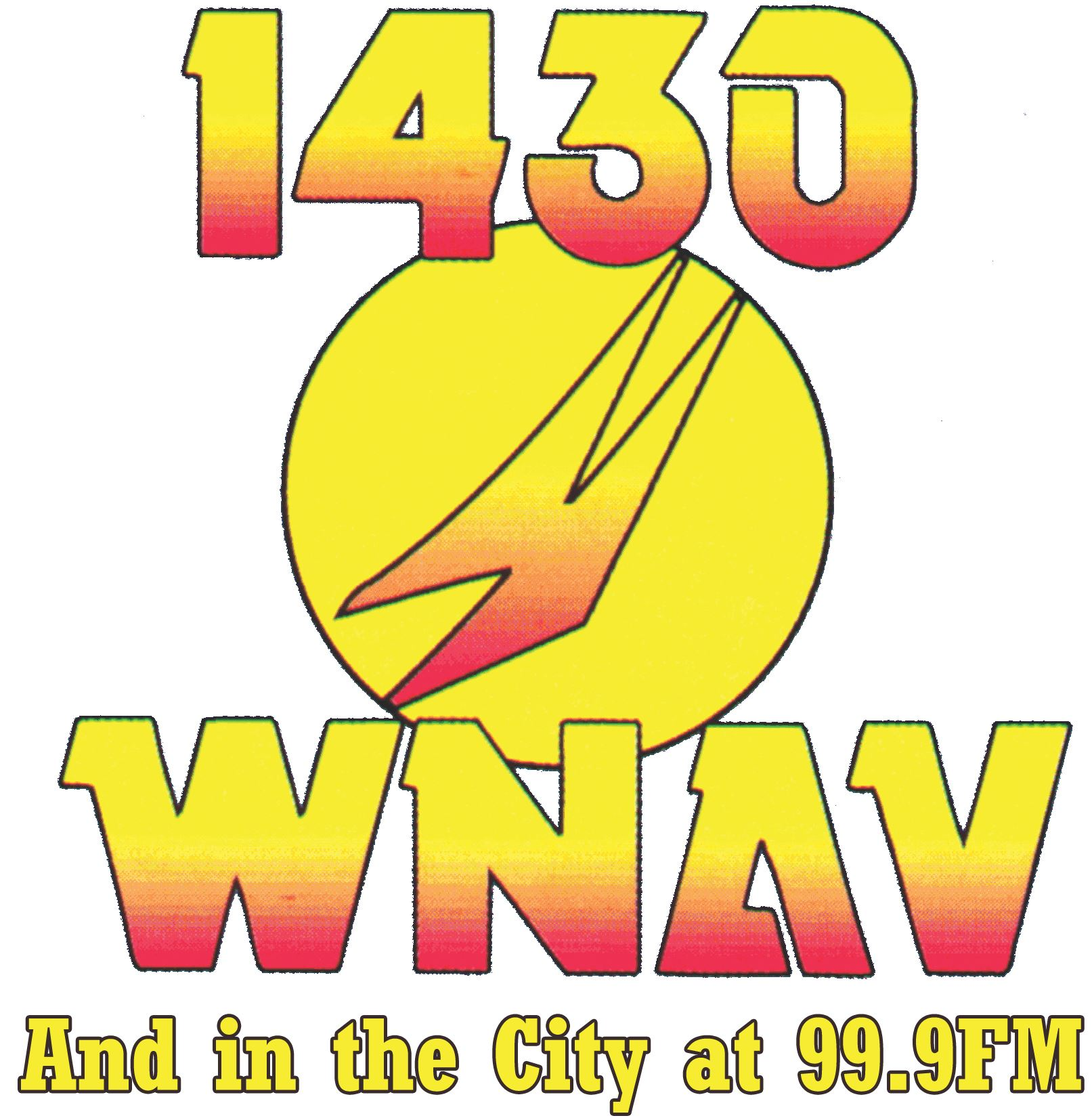 1430 WNAV And in the City at 99.9 FM Logo