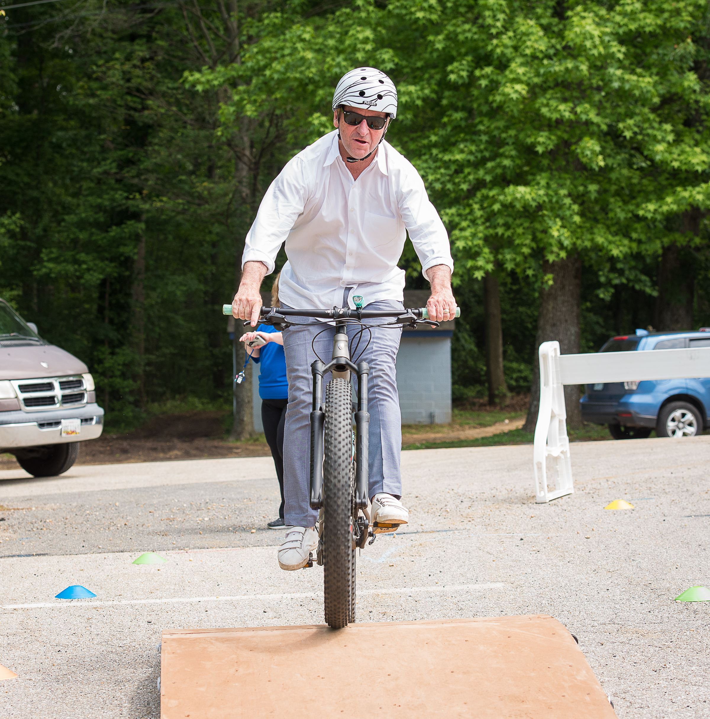 Mayor Gavin Buckley on PedalPower Kids bike course