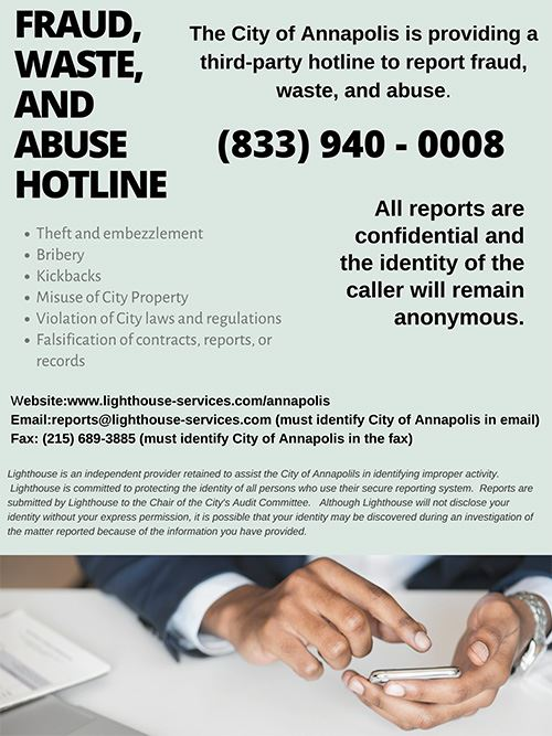 Fraud hotline in English
