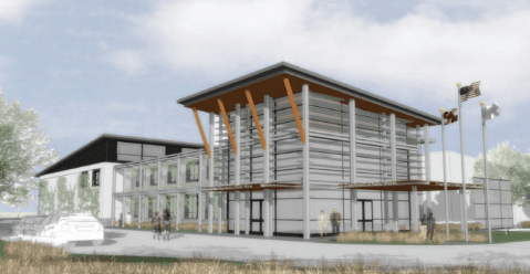 Rendering of the new public works facility