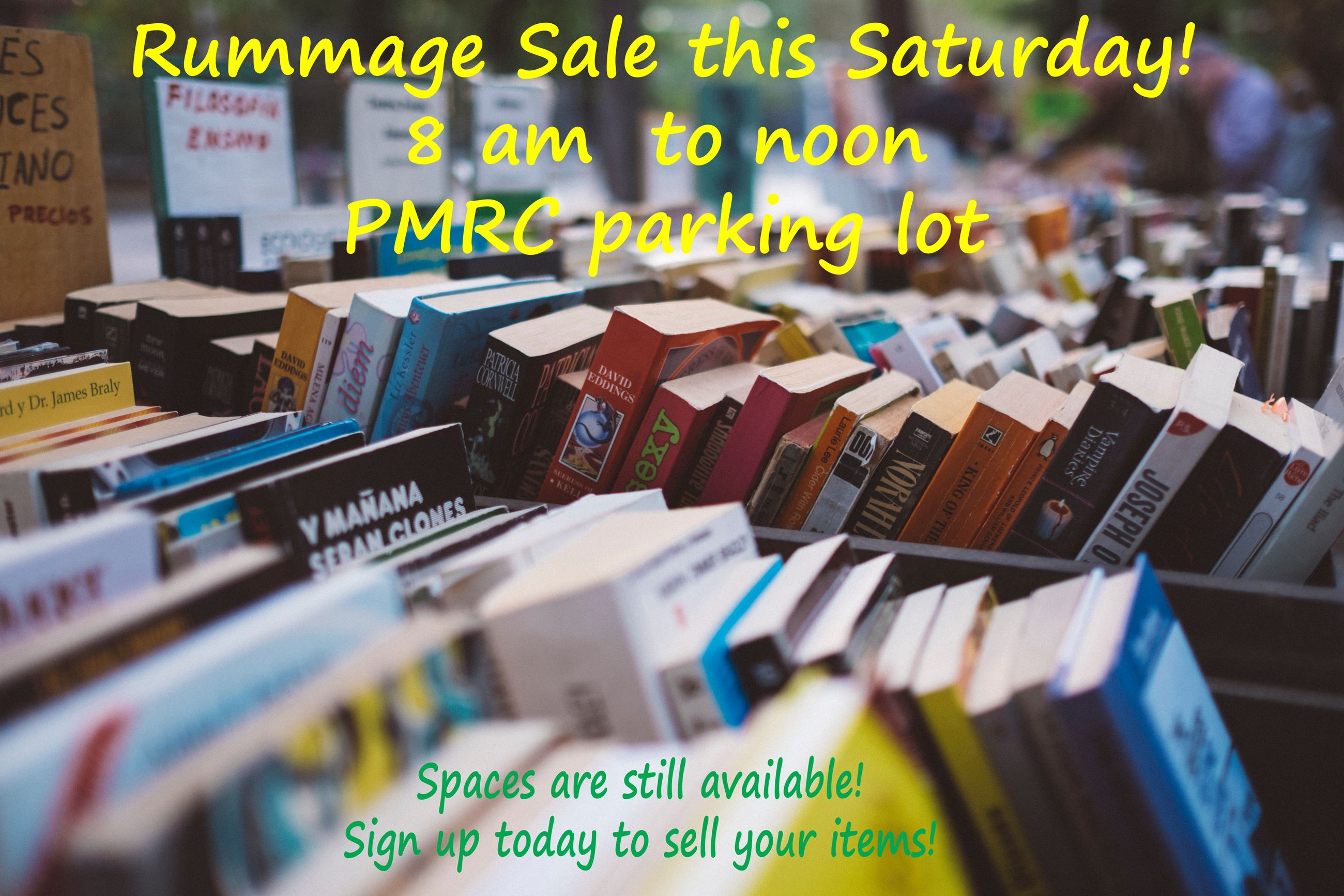Rummage Sale this Saturday picture for social media