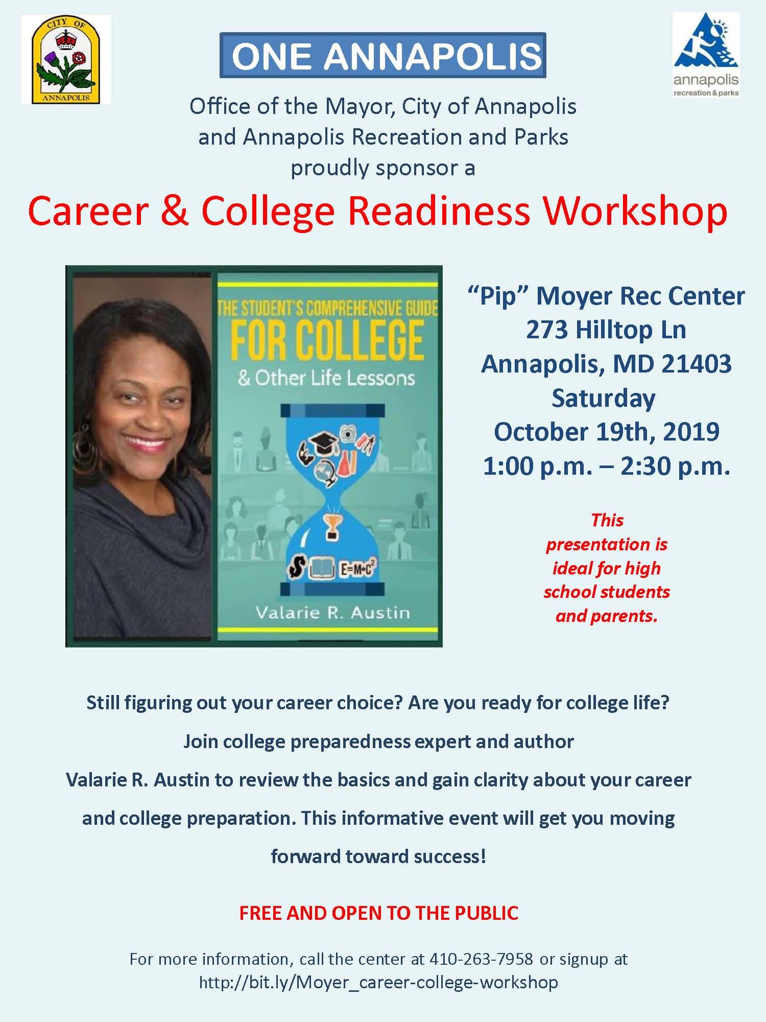 College Career Readiness Workshop Valarie Austin 101919