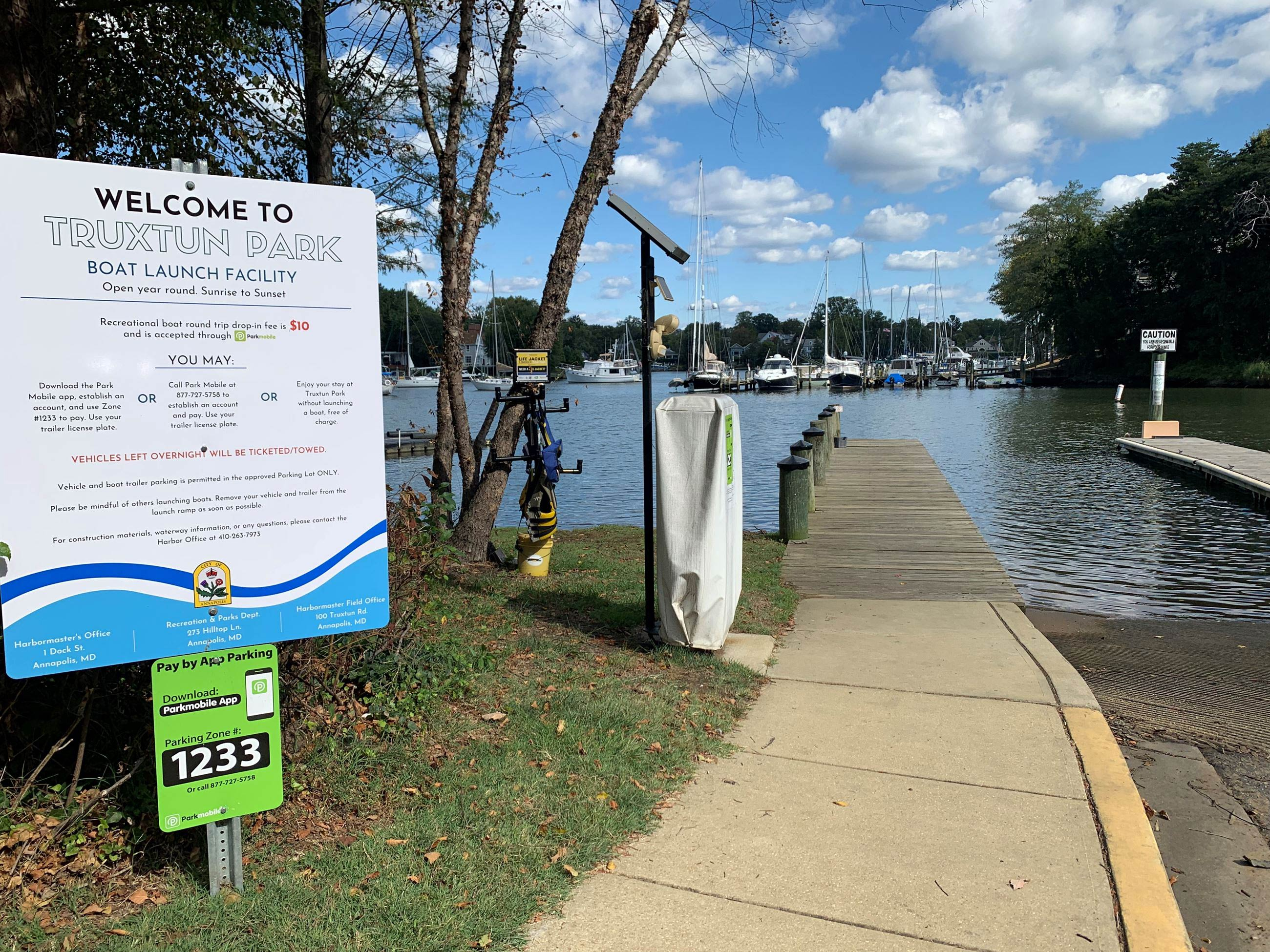 Truxtun Park Boat Ramp September 2019 access to boat launch Spa Creek
