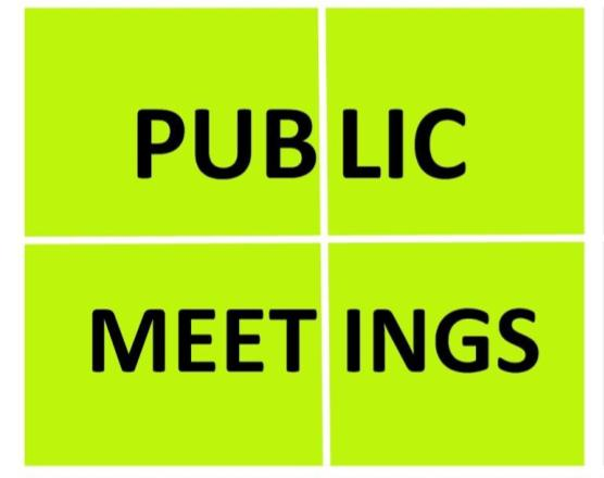 Engagement Strategies - Public Meetings
