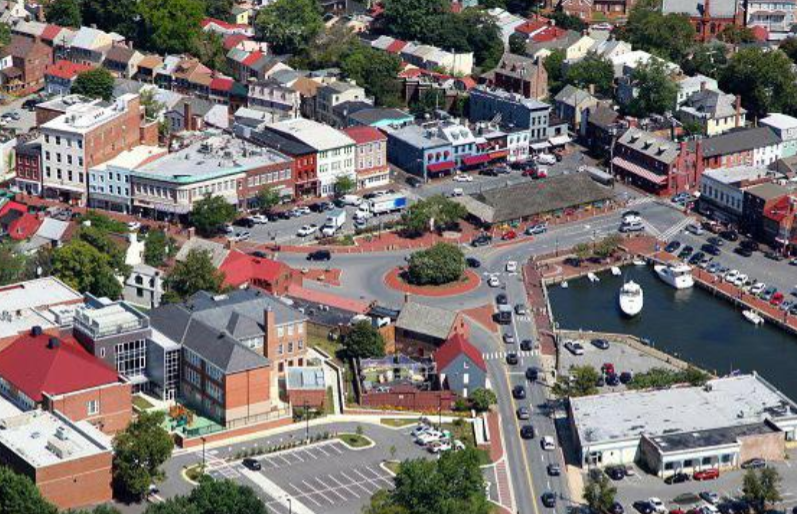 Annapolis City Dock aerial view