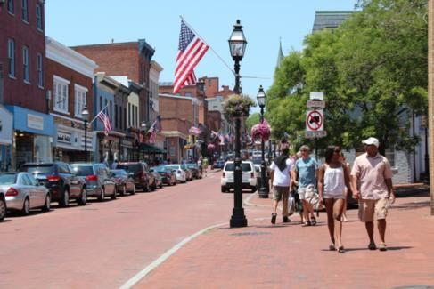People Walking Down Annapolis