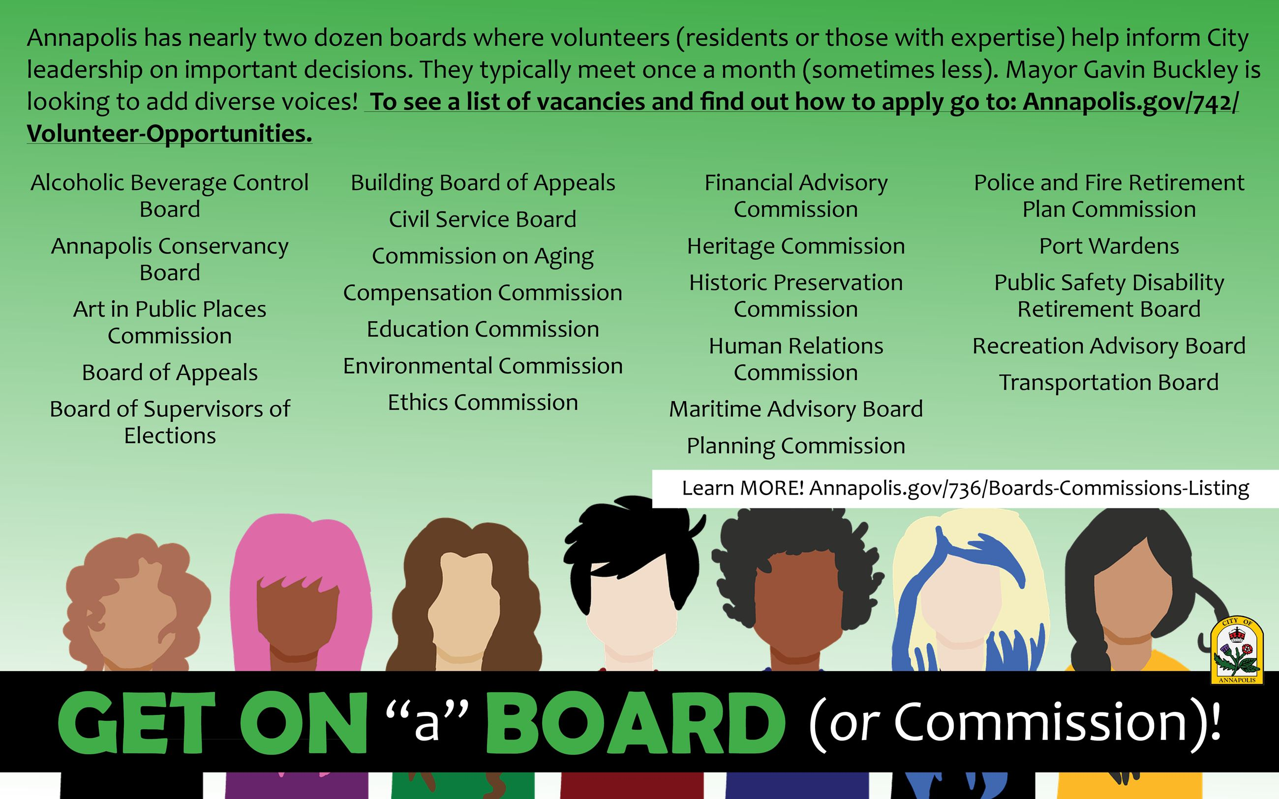 Board or Commissions Vacancies Advertisement