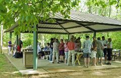 Group of People Under a Pavilion