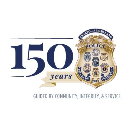 APD 150th Anniversary Logo - Guided by Community, Integrity and Service