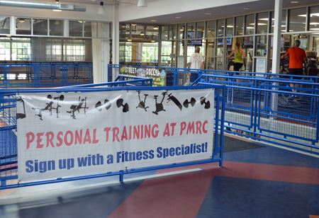 Personal Training at PMRC Sign up with a Fitness Specialist Banner