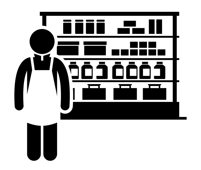 Shopkeeper graphic (Created by Gan Khoon Lay from Noun Project
