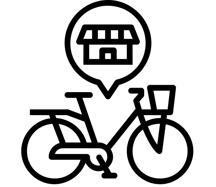 Shop by Bike graphic (Created by Juraj Sedlak from Noun Project