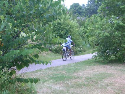 Cyclist on Bike Trail