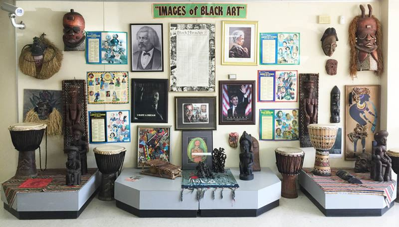 Display of Images of Black Art, Including Pictures of Prominent African-Americans