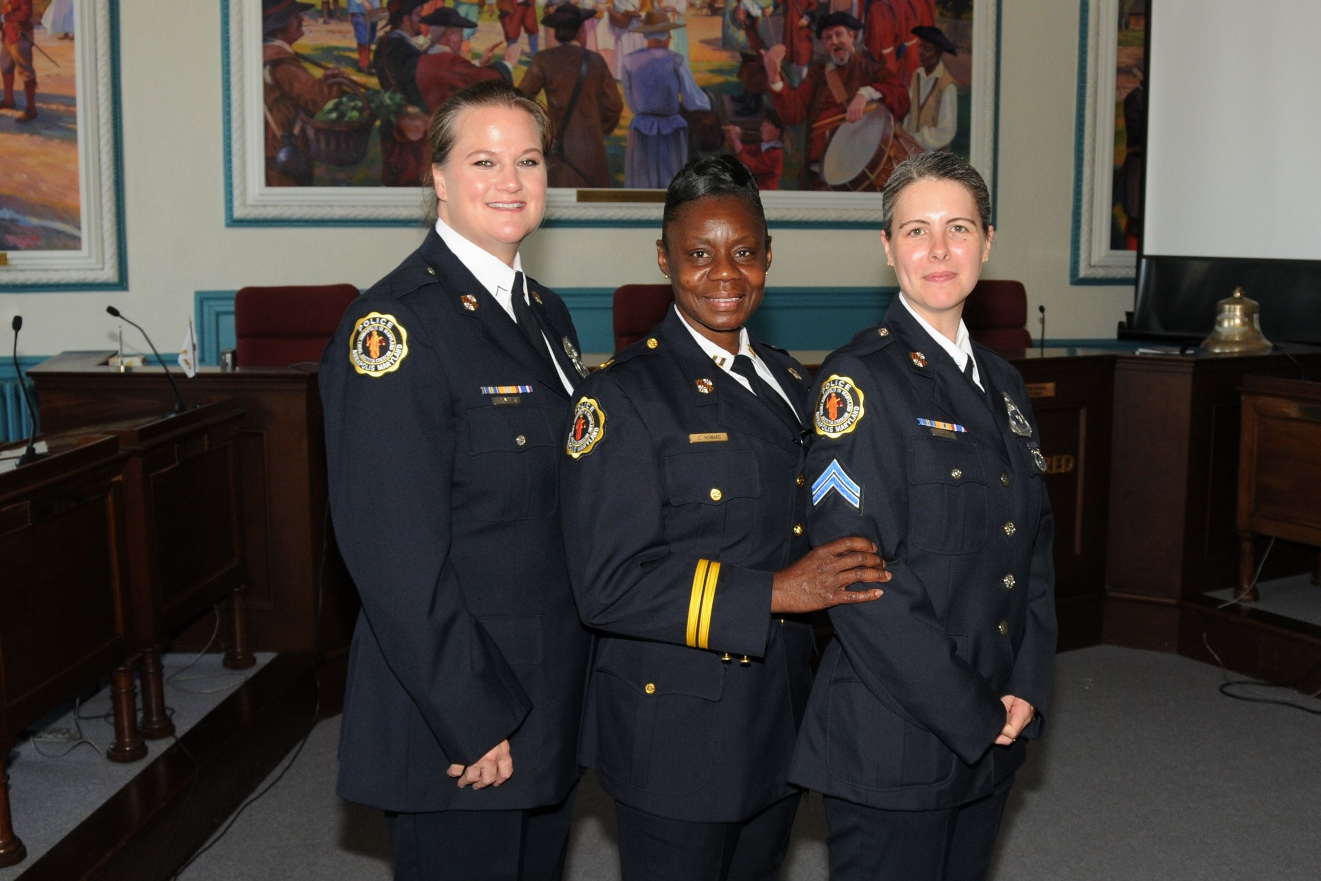 Three Women Officers