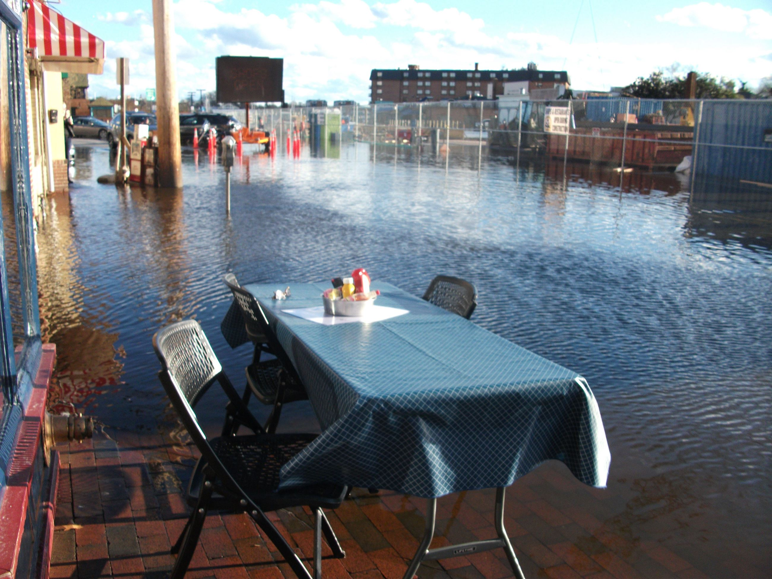 Flooding Waterfront Dining